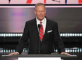 Mayor Mick Cornett (Republican of Oklahoma City, Oklahoma), President of the US Conference of Mayors, makes remarks at the 2016 Republican National Convention held at the Quicken Loans Arena in Cleveland, Ohio on Monday, July 18, 2016.<br /> Credit: Ron Sachs / CNP<br /> (RESTRICTION: NO New York or New Jersey Newspapers or newspapers within a 75 mile radius of New York City)