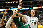 01 Apr 2012:    Baylor University center Brittney Griner (42) and her teammates celebrate after defeating Stanford University in the 2012 NCAA Division I Women's Basketball Semifinals held at Pepsi Center in Denver, CO.  Baylor defeated Stanford 59-47 to move on to the National Championship game.  Trevor Brown, Jr./NCAA Photos