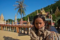 Wat Phnom Krom Pagoda and Monastery near the Tonle Sap, Cambodia