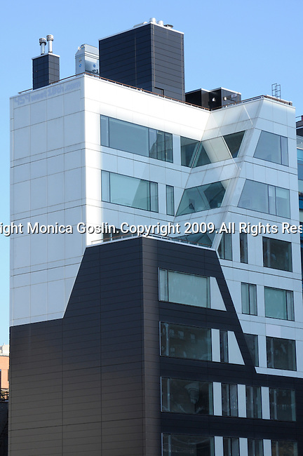Modern buildings in New York City.