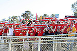 14 November 2010: Maryland fans salute their team before the game. The University of Maryland Terrapins defeated the University of North Carolina Tar Heels 1-0 at WakeMed Soccer Park in Cary, North Carolina in the ACC Men's Soccer Tournament Championship game.
