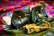 Authentic Nyonya Cuisine, Otak Otak (steam fish paste with lemon grass wrapped in banana leaf) is placed for a photo at the Mama's Nyonya  restaurant in capital Georgetown of Penang, Malaysia. Photo: Sanjit Das/Panos