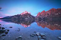 Jenny Lake Sunrise,  Grand Teton Reflection, Grand Teton National Park