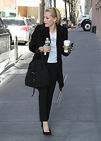 """NEW YORK, NY - MARCH 13:  Gillian Anderson spotted arriving at 'The View' to promote her book  """"We: A Manifesto For Women Everywhere""""  in New York, New York on March 13, 2017.  Photo Credit: Rainmaker Photo/MediaPunch"""