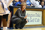 17 November 2013: Alabama head coach Kristy Curry. The Duke University Blue Devils played the University of Alabama Crimson Tide at Cameron Indoor Stadium in Durham, North Carolina in a 2013-14 NCAA Division I Women's Basketball game. Duke won the game 92-57.