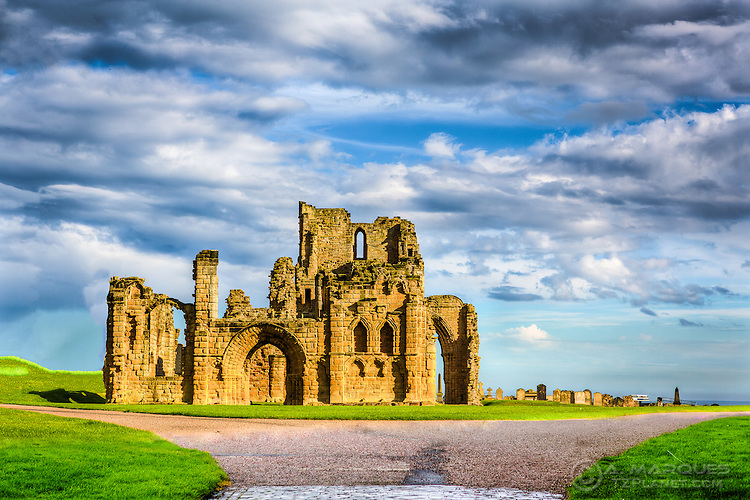 The Tynemouth Priory is a 7th century Benedictine Priory located in Tynemouth, Tyne and Wear, England.  <br /> Due to the strategic location, in a promontory overlooking both the North Sea and the River Tyne, it has both religious and military history, potencially from Roman times until as late as the 17th century.  <br /> The site is now managed by the English Heritage.