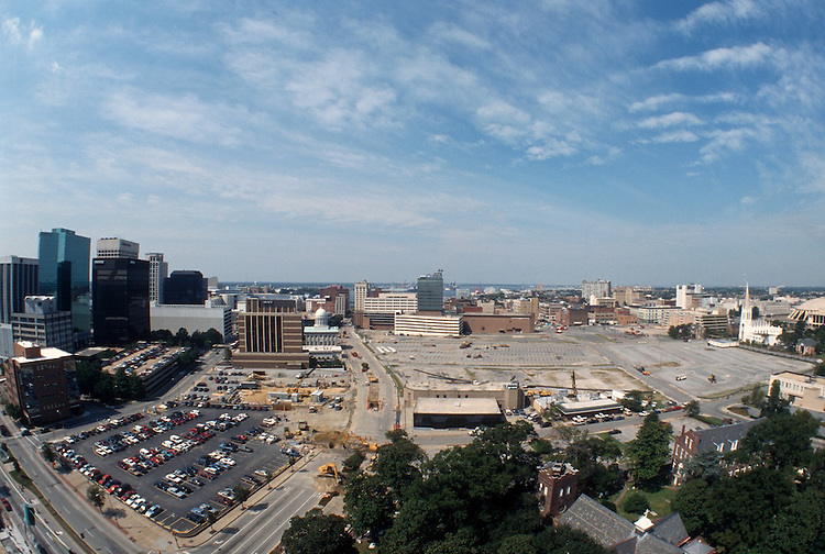 1996 September 24..Redevelopment..Macarthur Center.Downtown North (R-8)..PROGRESS.LOOKING WEST .FROM SCHOOL ADMIN BUILDING.SUPERWIDE VIEW...NEG#.NRHA#..