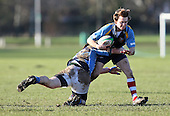 Luke Taylor in action for Old Cooperians - Old Cooperians RFC vs Old Brentwoods RFC - Essex Rugby League at Coopers Coborn School, Upminster - 30/01/10 - MANDATORY CREDIT: Gavin Ellis/TGSPHOTO - Self billing applies where appropriate - Tel: 0845 094 6026