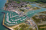 Aerial, Harbour, Old Gaffers, Yar, Yarmouth, Isle of Wight, England, UK,