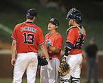 Mississippi's Drew Pomeranz (13) leaves the field after being taken out of the game in the 8th inning vs. St. John's during an NCAA Regional at Davenport Field in Charlottesville, Va. on Friday, June 4, 2010.