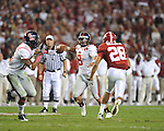 Ole Miss quarterback Jeremiah Masoli (8) at Bryant-Denny Stadium in Tuscaloosa, Ala.  on Saturday, October 16, 2010. Alabama won 23-10.