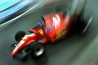 DETROIT, MI - JUNE 5: Patrick Tambay of France drives his Ferrari F126C2B 065/Ferrari 021 during the Detroit Grand Prix FIA Formula One World Championship race on the temporary Detroit Street Circuit in Detroit, Michigan, on June 5, 1983.