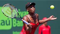 Venus WILLIAMS (USA)against Agnieszka RADWANSKA (POL) in the quarter finals for the women's singles. Venus Williams beat Agnieszka Radwanska 6-3 6-1..International Tennis - 2010 ATP World Tour - Sony Ericsson Open - Crandon Park Tennis Center - Key Biscayne - Miami - Florida - USA - Tue 30th Mar 2010..© Frey - Amn Images, Level 1, Barry House, 20-22 Worple Road, London, SW19 4DH, UK .Tel - +44 20 8947 0100.Fax -+44 20 8947 0117