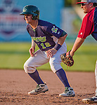 29 June 2014:  Vermont Lake Monsters catcher Kyle Wheeler in action against the Lowell Spinners at Centennial Field in Burlington, Vermont. The Lake Monsters fell to the Spinners 7-5 in NY Penn League action. Mandatory Credit: Ed Wolfstein Photo *** RAW Image File Available ****