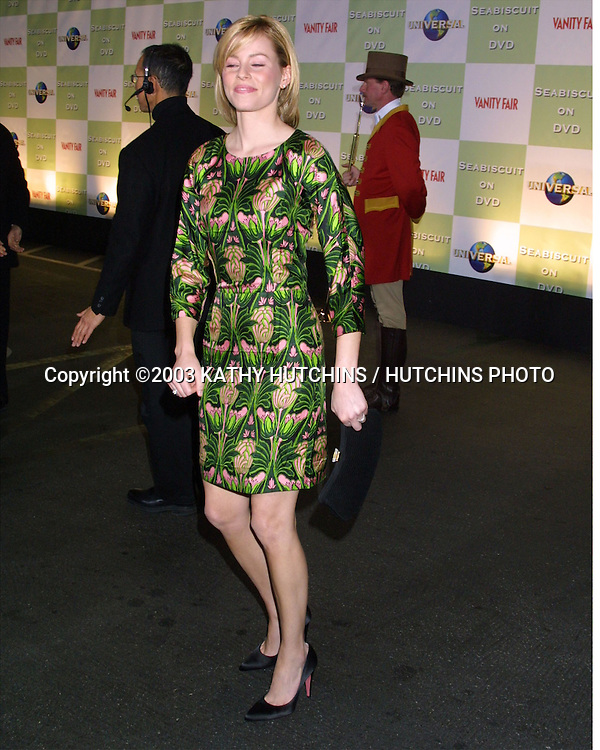 """©2003 KATHY HUTCHINS / HUTCHINS PHOTO.DVD LAUNCH PARTY FOR """"SEABISCUIT"""".BEVERLY HILLS HOTEL.BEVERLY HILLS, CA.DECEMBER 15, 2003..ELIZABETH BANKS"""