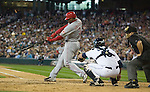 Cincinnati Reds' Ken Griffey Jr. hits his second home run of the game to right field against Seattle Mariners' Miguel Batista at Safeco Field in Seattle on June 24, 2007. The Mariners came back to beat the Reds 3-2. Jim Bryant Photo. ©2010. ALL RIGHTS RESERVED.