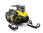 Bombardier Recreational Products BRP Ski-Doo MX Z Sport Snowmobile isolated on white background with clipping path