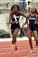 SAN ANTONIO, TX - MARCH 24, 2015: The University of Texas at San Antonio Roadrunners host the UTSA Invitational Track & Field Meet at the UTSA Park West Athletics Complex. (Photo by Jeff Huehn)