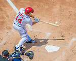 24 July 2016: Washington Nationals outfielder Chris Heisey in action against the San Diego Padres at Nationals Park in Washington, DC. The Padres defeated the Nationals 10-6 to take the rubber match of their 3-game, weekend series. Mandatory Credit: Ed Wolfstein Photo *** RAW (NEF) Image File Available ***