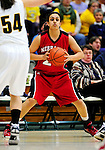4 January 2010: University of Nebraska Cornhuskers' forward Harleen Sidhu, a Sophomore from Surrey, British Columbia, in action against the University of Vermont Catamounts at Patrick Gymnasium in Burlington, Vermont. The Huskers, finishing off their first perfect non-conference season in school history, improved to 13-0 with the 94-50 win over the Lady Cats. Mandatory Credit: Ed Wolfstein Photo