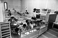 Harlem, New York City, October, 1972. Pentacostal Church, Samuel's Temple Daycare Center, 75 East 125th Street.