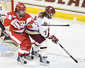 Louise Warren (BU - 28), Dru Burns (BC - 7) - The Boston College Eagles defeated the Boston University Terriers 2-1 in the opening round of the Beanpot on Tuesday, February 8, 2011, at Conte Forum in Chestnut Hill, Massachusetts.