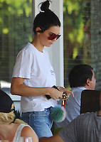 AUG 22 Kendall Jenner leaving a  lunch in Beverly Hills