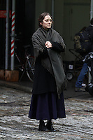 Marion Cotillard and Joaquin Phoenix filming in NYC