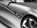 Closeup of BMW Vision ConnectedDrive concept sports car shiny body detail