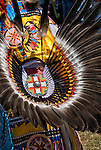 Traditional Bustle Regalia at the Thunderbird Powwow at the Queens County Farm Museum.<br />