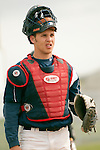 New Plymouth catcher Brady Harris at Vale High School's Cammann Field on April 28, 2011.