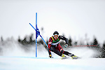 9 MAR 2011: Ryan Wilson of the University of Utah competes in the men's giant slalom alpine race during the 2011 NCAA Men and Women's Division I Skiing Championship held Stowe Mountain Resort and Trapp Family Lodge in Stowe, VT. Wilson placed 3rd to take bronze. ©Brett Wilhelm/NCAA Photos