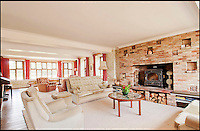 BNPS.co.uk (01202 558833)<br /> Pic: CarterJonas/BNPS<br /> <br /> ***Please Use Full Byline***<br /> <br /> The living room in Little Easton manor. <br /> <br /> <br /> One of Britain's most historic country houses which boasts a theatre that has played host to Charlie Chaplin and H.G. Wells has gone on the market with a &pound;5 million price tag.<br /> <br /> In the early 1900s the sprawling estate's tithe barn was transformed into a theatre in which the great and the good of the acting world flocked to perform.<br /> <br /> Edwardian actress Ellen Terry gave poetry readings there while War of the Worlds author H.G. Wells, who lived with his family in a house on the estate, also frequented the theatre.<br /> <br /> Other regular performers included Charlie Chaplin, Gracie Fields and George Formby.<br /> <br /> In more recent years it has welcomed famous faces such as Rowan Atkinson, Bill Cotton, Tim Rice, Esther Rantzen and even the cast of Eastenders.<br /> <br /> The 17th century Grade II listed manor is on the market with Carter Jonas estate agents for &pound;5 million.