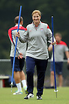 18 August 2014: Head coach Jill Ellis. The United States Women's National Team held a training session on Field 4 at WakeMed Soccer Park in Cary, North Carolina.