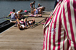 Henley Royal Regatta, Henley on Thames, Oxfordshire, England. Abingdon School.