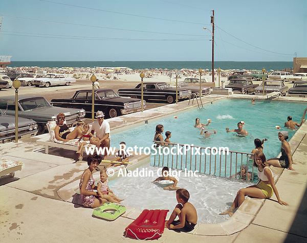 Gondolier Motel in Wildwood, NJ. 1960 kiddie pool.
