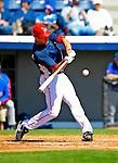 3 March 2009: Washington Nationals' third baseman Matt Whitney in action against Italy during a Spring Training exhibition game at Space Coast Stadium in Viera, Florida. The Nationals defeated Italy 9-6. Mandatory Photo Credit: Ed Wolfstein Photo