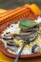 Europe/France/Languedoc-Roussillon/66/Pyrénées-Orientales/Banyuls-sur-Mer: recettes de Sanch - Anchois de Collioure - Mimosa