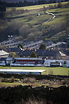 Bacup Borough 4 Holker Old Boys 1, 25/04/2016. Brain Boys West View Stadium, NorthWest Counties League Division One. A view over the Brain Boys West View Stadium before Bacup Borough play Holker Old Boys in a NorthWest Counties League division one fixture. Formed as Bacup in 1879, the club moved into their current home in 1889 and have been known as Bacup Borough since the 1920s, apart from a brief recent spell when they added the name Rossendale to their name. With both teams challenging for play-off places, Bacup Borough won this fixture by 4-1, watched by a crowd of 50. Photo by Colin McPherson.
