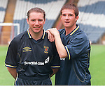 Ally McCoist and Barry Ferguson at Scotland training together 1999