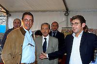 21 SET 2003 Novegro: festa regionale UDC, LUCA VOLONTE' capogruppo alla camera dei deputati per l'UDC e Domenico Zambetti, segretario regionale e Roberto Mongini (mani pulite).
