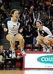 Delaney D'Amore and Kerry Mulligan are show some excitement during an 11 point comeback against Mackinaw in the 2A state semifinals at Redbird Arena.
