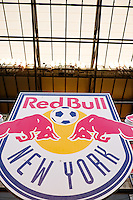 Harrison, NJ - Wednesday Aug. 03, 2016: New York Red Bulls logo during a CONCACAF Champions League match between the New York Red Bulls and Antigua at Red Bull Arena.