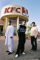 Three young men from Britain visit Jhelum for a wedding, and stop for a meal at KFC.