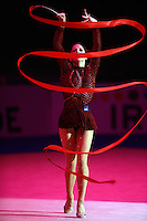 Mojca Rode of Slovenia performs with ribbon during gala exhibition with at 2008 European Championships at Torino, Italy on June 7, 2008.  Photo by Tom Theobald.