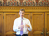 Chris Philp launches a new report in conjunction with the High Pay Centre entitled &ldquo;Restoring Responsible Ownership&rdquo; at The House of Commons, Westminster, London, Great Britain on 5th September 2016. <br /> <br /> Christopher Ian Brian Mynott Philp is a British entrepreneur and Conservative Party politician. He was elected in May 2015 as the Member of Parliament for Croydon South.<br /> <br /> Introductory comments from Stefan Stern director of the High Pay Centre &amp; Financial Times columnist. <br /> <br /> Co-hosted by The Right Honourable<br /> The Lord Myners CBE<br /> Paul Myners ex-Financial Services Secretary.<br /> <br /> <br /> <br /> <br /> Photograph by Elliott Franks <br /> Image licensed to Elliott Franks Photography Services