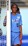 Maribel Dominguez at Herndon Stadium in Atlanta, GA on 5/17/03 during a game between the Atlanta Beat and San Jose CyberRays. Atlanta won the game 1-0.