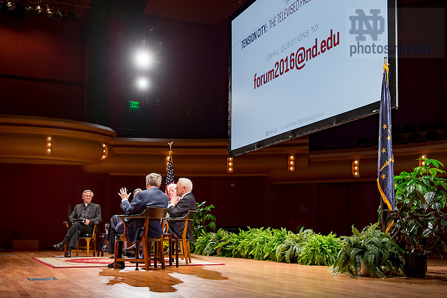 "September 14, 2016; Notre Dame Forum: ""Debating our Future"" (Photo by Matt Cashore/University of Notre Dame)"