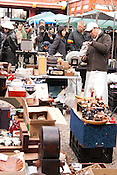 People shopping in the Osu Kanon Temple flea markets.