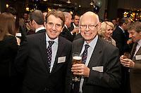 Having fun - Roger Davis of Geo Hallam & Sons (left) and Richard Bonnello of RWB Chartered Accountants